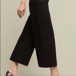 Anthropologie Pilcro Wide Leg Cropped Jeans